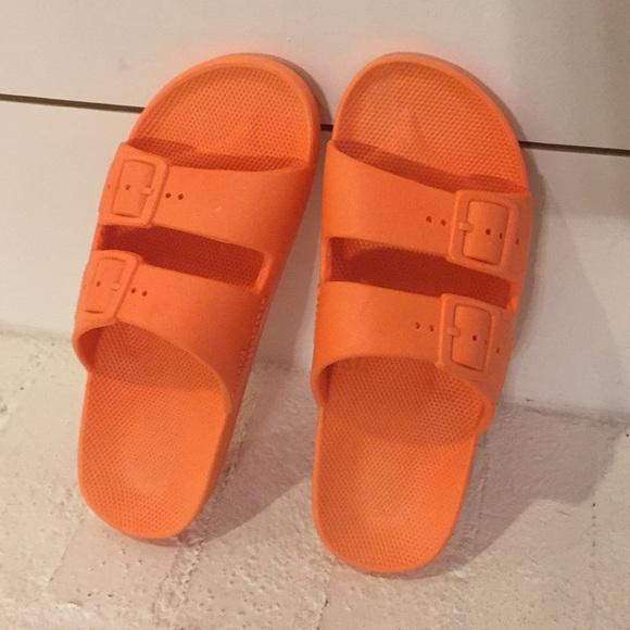 freedom moses shoes orange slides size 3637 new poshmark